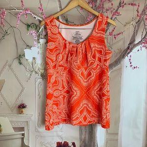 Patagonia Bandha Orange Print sleeveless Tank